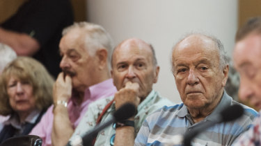 Retirees packed into the Chatswood Club during the Parliamentary inquiry to voice their concerns at Labor's policy.