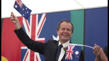 Bill Shorten on Australia Day in 2015.