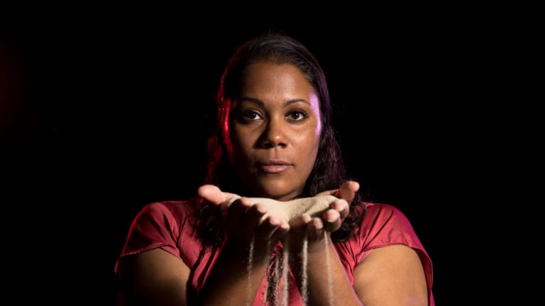 Shakira Clanton had three days to learn her part in The Long Forgotten Dream.