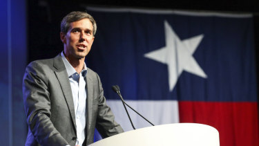 Beto O'Rourke, who is running for the US Senate, speaks during the general session at the Texas Democratic Convention in Fort Worth, Texas.