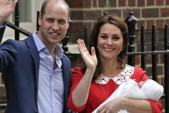 And then there were five: Kate shows off newborn son