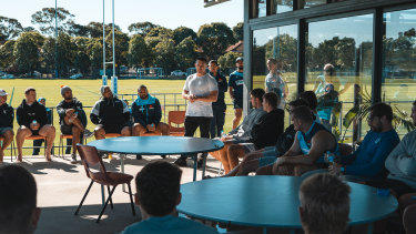 Paul Gallen at the Waratahs' Daceyville camp last Thursday.