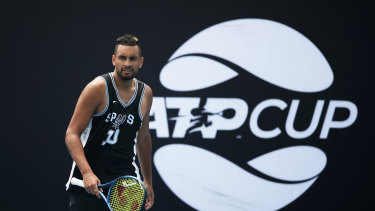 Kyrgios will be the first Australian onto Ken Rosewall Arena on Thursday.