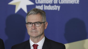 The outgoing chief executive of the Australian Chamber of Commerce and Industry, James Pearson.