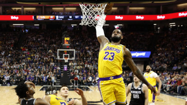 LeBron James' pursuit of another championship has been put on hold because of the coronavirus pandemic, with American sports broadcasters now looking for alternative content to fill the void.
