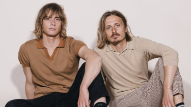 Louis (left) Leimbach and Oliver Leimbach of the Sydney indie pop  band Lime Cordiale are contenders to be nominated for album of the year.