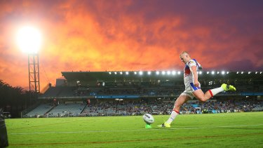 Central Coast Stadium was picturesque for the Knights and Warriors clash.
