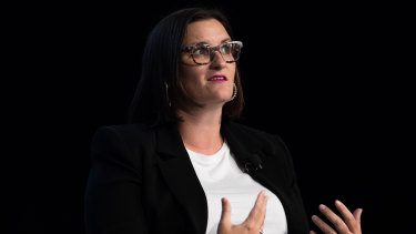 Education Minister Sarah Mitchell at the summit on Thursday.
