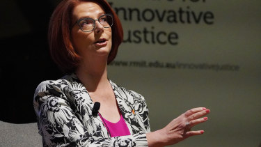 Former prime minister Julia Gillard speaking earlier this year.
