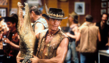 Twice as successful as any other Australian film when domestic box office is adjusted to today's dollars: Crocodile Dundee.