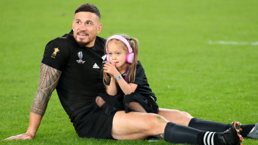 Sonny Bill Williams had daughter Imaan by his side after he farewelled international rugby on Friday night.