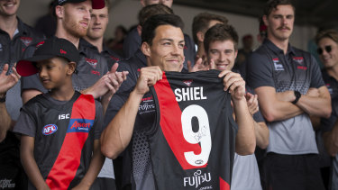 Dylan Shiel at the family day.