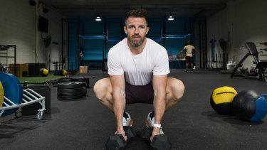 Todd Liubinskas in his gym in Five Dock, Sydney.