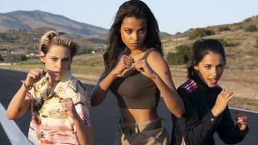 Kristen Stewart, Ella Balinska and Naomi Scott are the new Charlie's Angels.