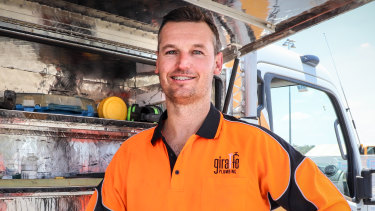 There are plenty of jobs around for self-employed plumber Josh Brown.