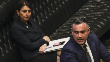 "Deputy Premier John Barilaro, in question time on Tuesday, says his relationship with Premier Gladys Berejiklian is ""tight""."