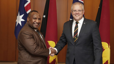 Prime Minister of PNG James Marape and Prime Minister Scott Morrison denied any asylum seekers were in detention because they were free to move on Manus Island.