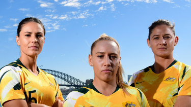 Matildas Emily Gielnick, Gemma Simon and Laura Alleyway.