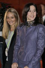Eva Kruse (left) with Crown Princess Mary.