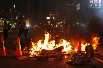Hong Kong toned down its official New Year's celebrations amid ongoing protests.