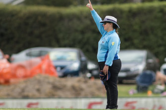 Lisa McCabe is easygoing but aiming high in the umpiring ranks.