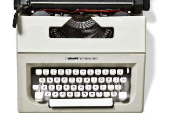 Nick Cave's Lettera 25 manual typewriter, c. 1975