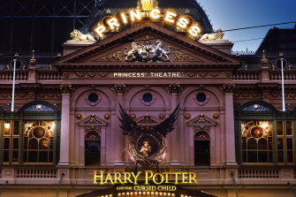 Melbourne's Princess Theatre, home to the Australian production of Harry Potter and the Cursed Child.