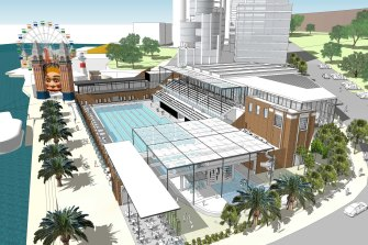 The plans for the redeveloped pool will keep heritage elements but include a new grandstand.