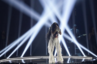 H.E.R. performs at the BET Awards in Los Angeles in June.
