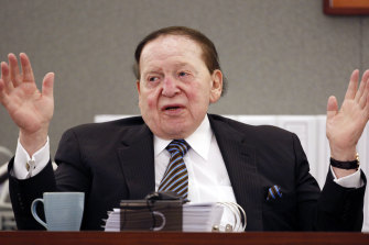 Sheldon Adelson, pictured in 2015, held extraordinary power among Republicans.
