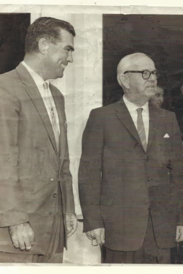Stewart Sydes with Bob Heffron