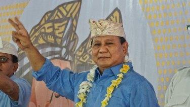 Indonesian presidential Prabowo Subianto.