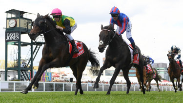 The Chosen One grabs Caulfield Cup place and broadens Baker's smile
