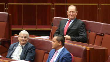 Brian Burston, bottom left, and Fraser Anning, top right.