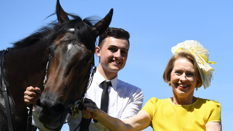 Star on the rise: Gai Waterhouse with Invincible Star after she won the Thoroughbred Club Stakes at Caulfield last spring.