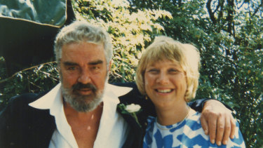 Kenneth Cook and Jacqueline Kent on their wedding day in 1987.