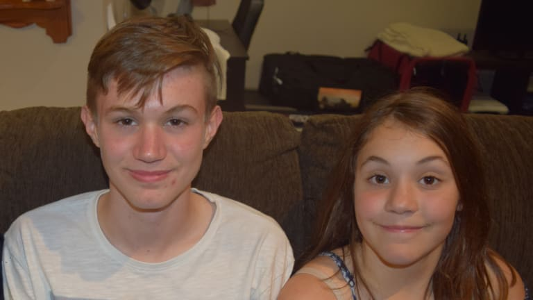 Adriaan Roodt, who died on Thursday after an incident at Mount Ainslie, and his sister Christelle.