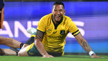 Staying put: Israel Folau.