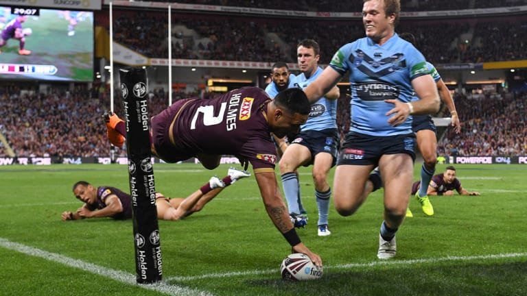 Next year West Australians will be treated to spectacular tries like this one from Valentine Holmes in game three of the 2018 series.