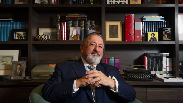 Barrister Jack Pappas in his Canberra chambers.