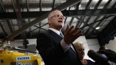 Prime Minister Scott Morrison campaigns last week.