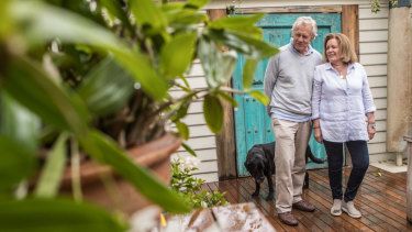 Rick and Meg Brown moved to Albert Park from the inner east after their kids moved out of the family home.