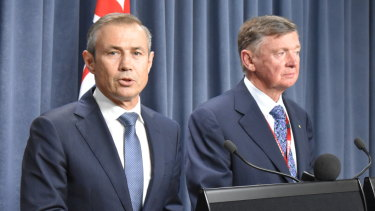 Health Minister Roger Cook with chairman of the expert panel which was tasked with drafting new euthanasia and assisted suicide laws.