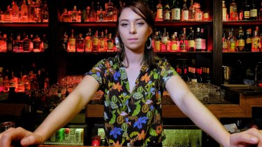 Bar manager Bonnie Nicol at Talk To Me in South Yarra.