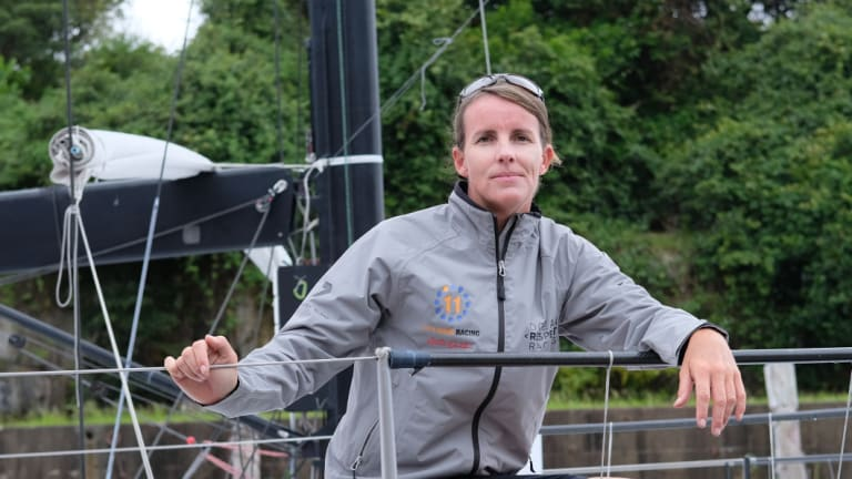 Hobart bound: Ocean Respect Racing's Stacey Jackson is sailing to encourage better sea stewardship.