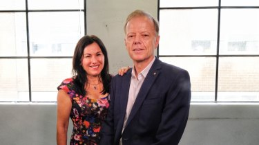 Philanthropists Tania de Jong and Peter Hunt at their office in Melbourne, on Tuesday 29 January.