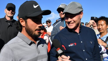 Spotlight: Abraham Ancer is interviewed moments after winning the 2018 Australian Open at The Lakes.