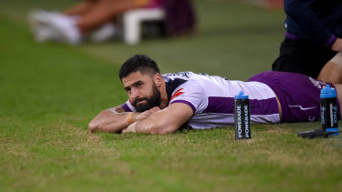 Jesse Bromwich struggled to prove his fitness for Saturday's clash.