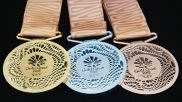 The medals for the Gold Coast 2018 Commonwealth Games.