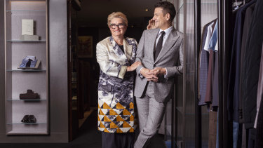 Harrolds joint managing directors Mary Poulakis and son Ross Poulakis in their Melbourne store.